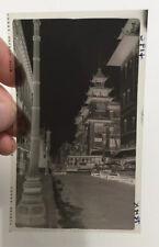 VINTAGE 1950'S PHOTOGRAPH NEGATIVE SAN FRANCISCO CALIFORNIA CHINATOWN 419C