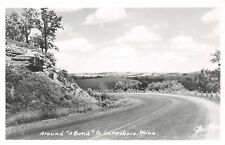 Lanesboro Minnesota~Around Bend in the Highway~Lovely Rows of Clouds Rppc c1950
