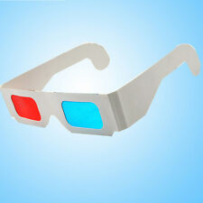 9Pairs Universal Anaglyph Cardboard Paper Red Blue Cyan 3D Glasses For Movie US