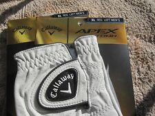 2 CALLAWAY APEX TOUR GOLF GLOVES SIZE EXTRA LARGE 2 NEW MENS
