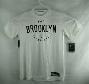 Nike NBA Brooklyn Nets Performance Shooting Pregame Shirt Men`s Large-TALL