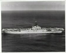 1959 Navy Photo Aircraft Carrier USS Boxer Helicopters  on Deck  CVS 21