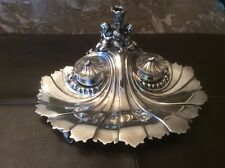 Ink Stand Antique Elkington Ink Stand In Elegant Rococo Style With Cupids C.1860