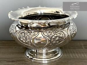 Large Art Noveau Silver Bowl By Cooper Brothers & Sons, Sheffield 1903