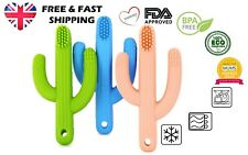 Yummy Baby Teething Teether Silicone Cactus Toys Toothbrush -1/pack