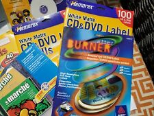 Cd And Dvd Labels Huge Lot White Matte Foil