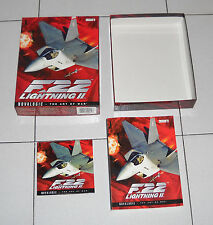Gioco Pc Cd F-22 LIGHTNING II 2 in BOX – OTTIMO 1996 ITA Jet Fighter