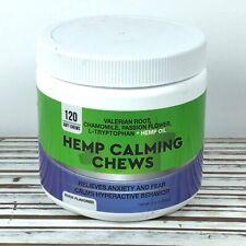 Calming Hemp Dog Treats Chews  / Made in USA / Hemp Oil Anxiety Stress / 08/2021