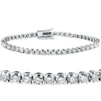 8ct Diamond Tennis Bracelet 18k White Gold 7""