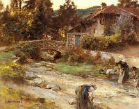 Lavandières by Léon Augustin Lhermitte. Life Repro choose Canvas or Paper