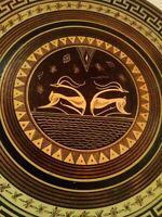 VTG Copper Plate Impala Deer Hand Made Art Deco Athens Greece John Douatzis 320