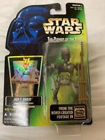 """Star Wars Power Of The Force POTF 3.75"""" - ASP-7 Droid/ Saelt-Marae 1996 Kenner"""