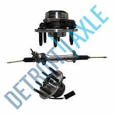 3pc Set Power Steering Rack & Pinion + 2 Wheel Hub Bearing Assembly GMC 2WD ABS