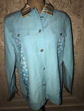 Koos Of Course Long Sleeves W/ Pockets Silk & Linen Womens Jacket Sz M