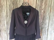 DAYMOR PETITE 12 Mother Of The Bride Eggplant Dress And Jacket Tiered Diamond