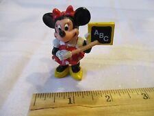 PVC Minnie Mouse school teacher cake topper garden Disney Movie figure plastic