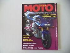 MOTO TECNICA 12/2001 BMW R 1100 S/SUZUKI DR-Z 400 S/YAMAHA FZS 1000 FAZER