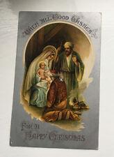 Antique CHRISTMAS Card -- Brighton Family, Newton Flotman, nr Norwich