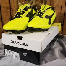 17c9037bd20 Diadora Dd-eleven R MG 14 Soccer Shoes Cleats Size 11 Black Fluorescent  Yellow