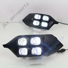 For Mitsubishi Pajero 15-16 k White DRL Daytime Running Lamp Fog Lamp Cover