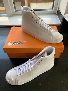 **Nike White/White/Black Blazer Mid 77 Trainers UK 7 DD0502-100 Brand New Boxed*