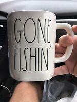 """New RAE DUNN """"GONE FISHIN'"""" Mug"""