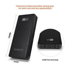 USA 50000mah Portable Power Bank LCD LED 4 USB Battery Charger for Mobile Phone