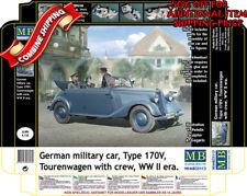 Master Box 35113 WWII German Military Car Type 170V Tourenwagen w/Crew kit 1/35