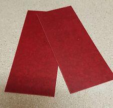 "RED PAPER MICARTA KNIFE HANDLE LINER SPACER BLANK .035"""