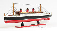 "RMS Queen Mary Ocean Liner Wooden Model 32"" Cruise Ship Cunard Lines Boat New"