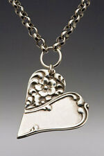 Artisan Silver Spoon Jewelry - CHARLOTTE Necklace - #SS-CHARLOTTE-HNR