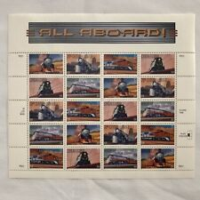 1999 Full Sheet All Aboard 33 Cent Train Stamps - SC# 3333-3337