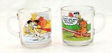 (2) Vintage1978 Garfield McDonalds Collector Mugs Glasses Jim Davis