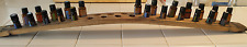 Authentic 29-Hole Wine Barrel Stave As Essential Oils Display Holder