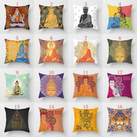 Elephant Ganesha Buddha Waist Cushion Pillow Case Cover Sofa Home Decor Glitzy