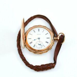 1912 Elgin Grade 295 6s 15 Jewels Pocket Watch with Gold Filled Hunter Case