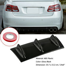 "14x6"" Universal Car Lower Rear Body Bumper Diffuser Shark 3 Fin Kit ABS Spoiler"