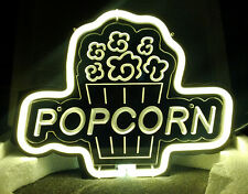 "Sb180 Popcorn beer bar pub cinema shop display neon Light acrylic Sign 11""x8"""