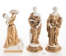 3 Blanc De Chine Gilt Neoclassical Female Figures Part of Surtout de table