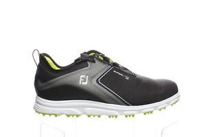 FootJoy Mens Nomodel72412 Black/Lime Golf Shoes Size 10.5 (Wide) (1775708)