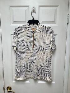 Sport Haley Golf Women's Shirt L Multicolored Short Sleeves 1/4 Decorative Zip