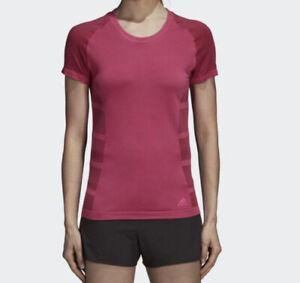 Adidas Shirt Ultra PrimeKnit Light Tee Magenta Running Athletic CZ5469 S NWT$75