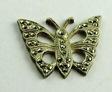 Antique Sterling Silver Marcasite BUTTERFLY Jewelry Design Piece Trim #EST581