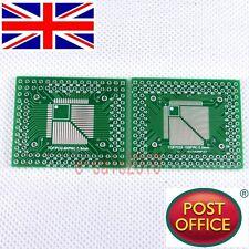 5pcs QFP/TQFP/LQFP/FQFP 32/44/64/80/100 to DIP Adapter PCB Board Converter F16