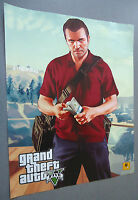 "Grand Theft Auto V Two Sided  Poster ""B""      NEW  GTA V   GTA 5"