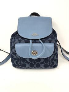 coach Blue Print Backpack