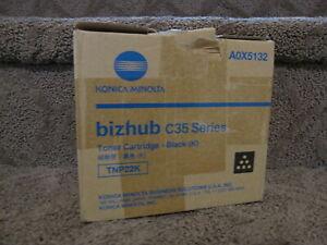 Konica Minolta Bizhub C35 Black Toner Cartridge A0X5132 TNP22K Genuine OEM