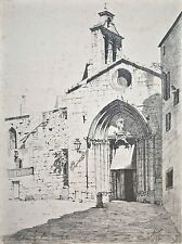 Eusebi Arnau-Portal de Santa Ana, Barcelona-lápiz - 1887