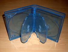 50 Blu Ray Hüllen Fünffach 5-fach blau Blu-Rays Rückenbreite 15mm 1,5 cm Neu