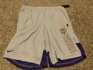 LSU Tigers  Nike Dry Knit Shorts Gray/Purple Men's Size: 2XL NWT